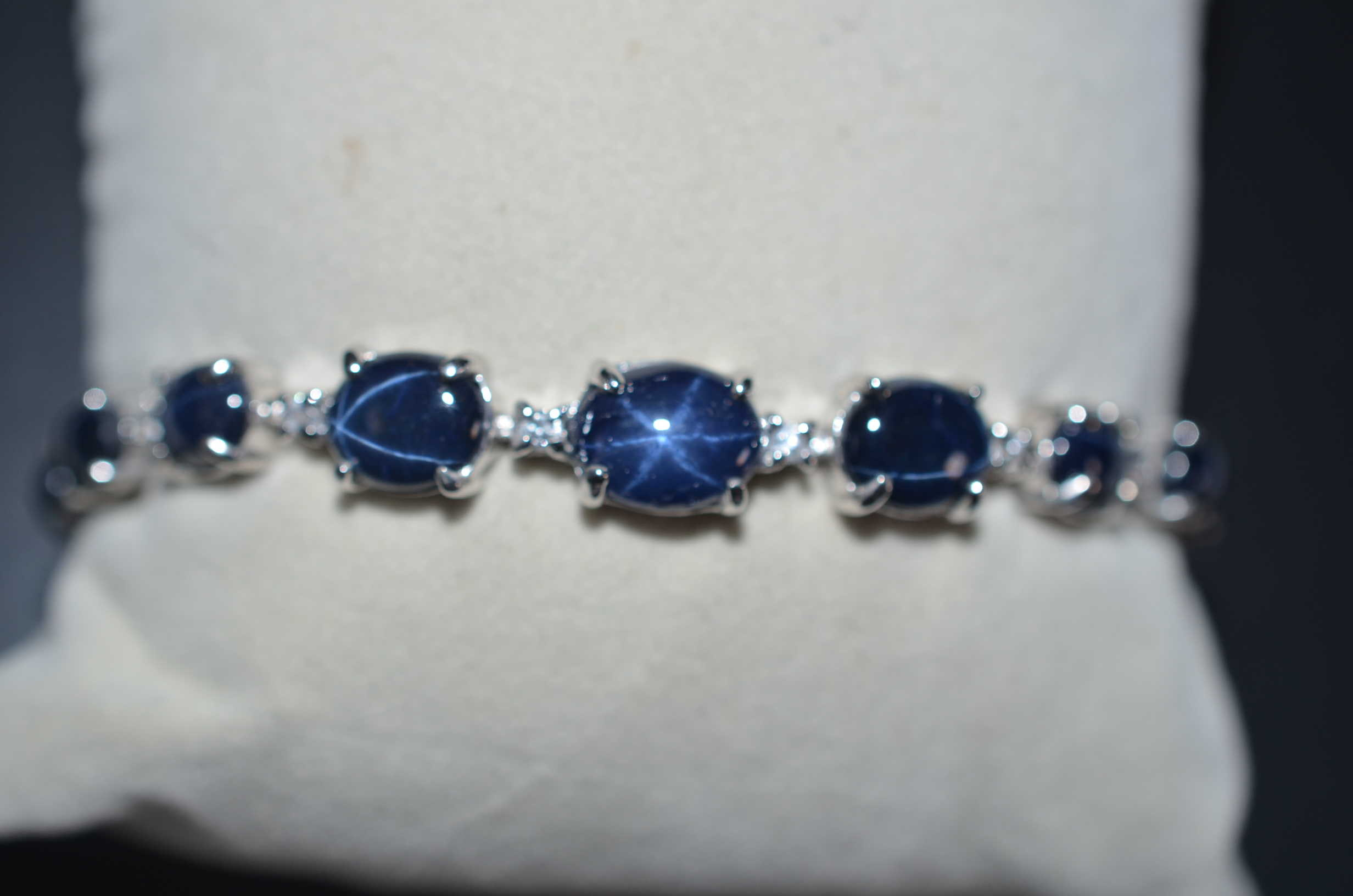 sapphire london tennis diamond collection white blue bracelet gold
