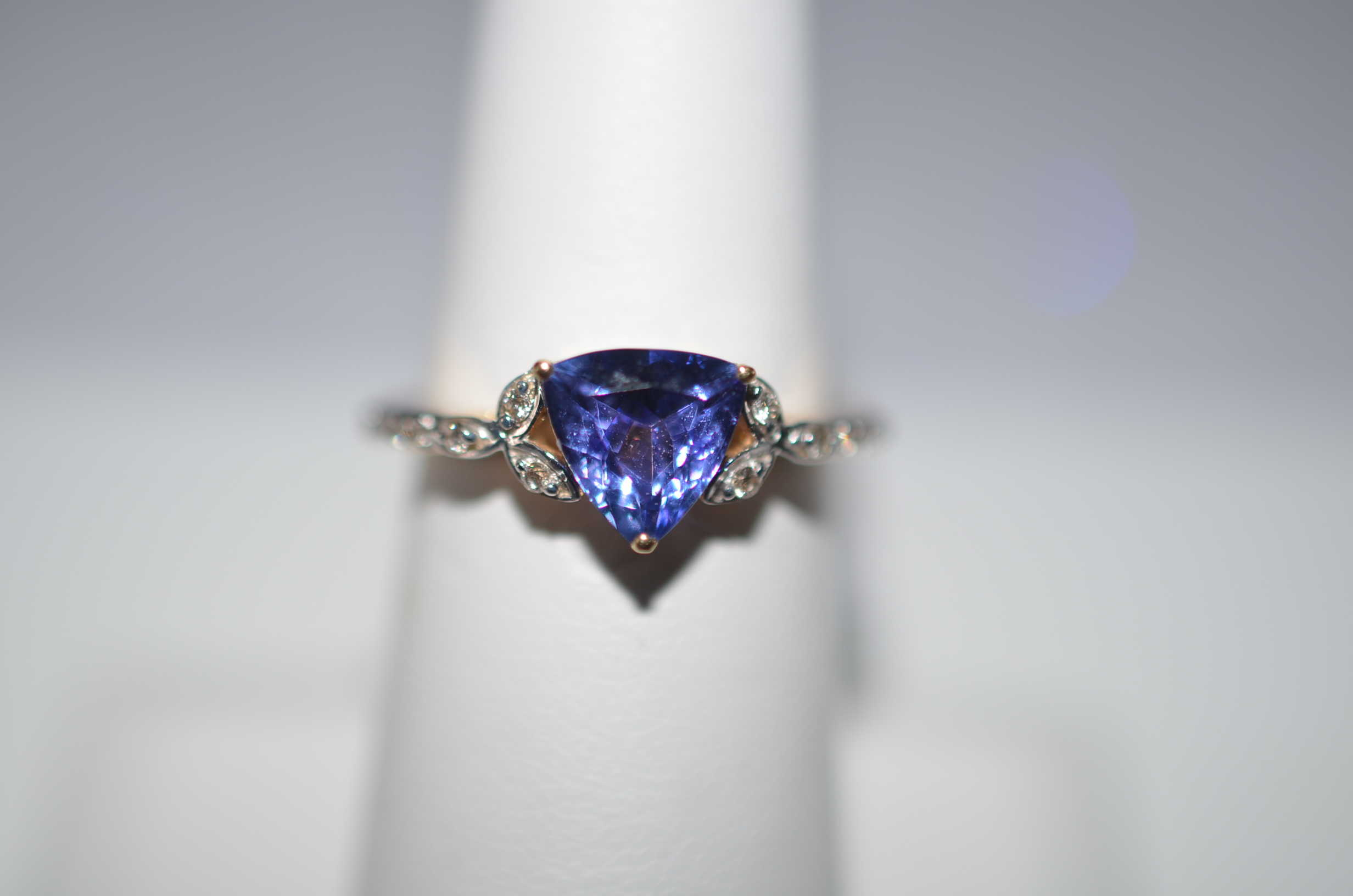 diamonds collections halo ring rings cut tanzanite greenleaf trillion double