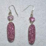 druzy crystal earrings