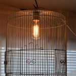 wire birdcage chandelier