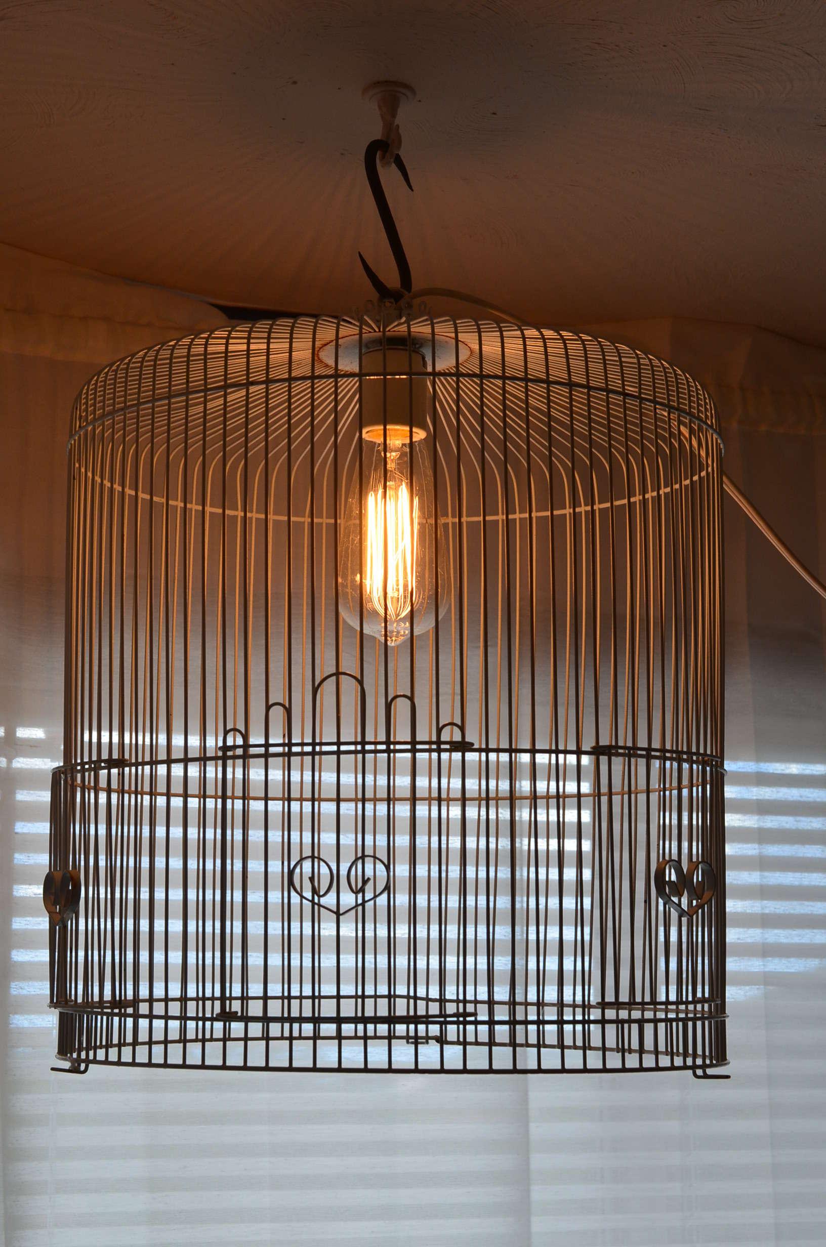 Wire Birdcage Chandelier