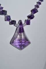 Hand faceted Amethyst pendant