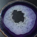 Purple Agate with Crystals