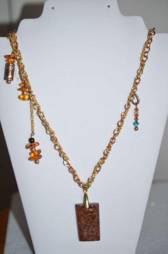 Natural copper pendant