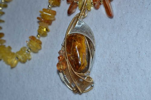Wire Wrapped Amber