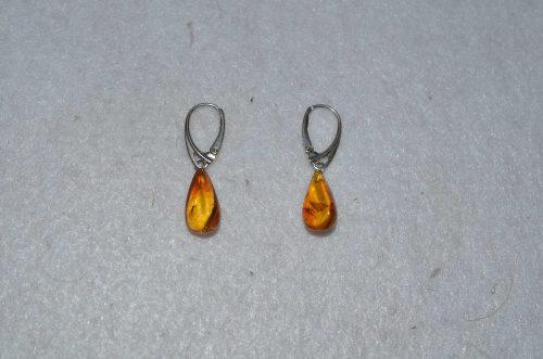 Baltic Amber Pear Earrings