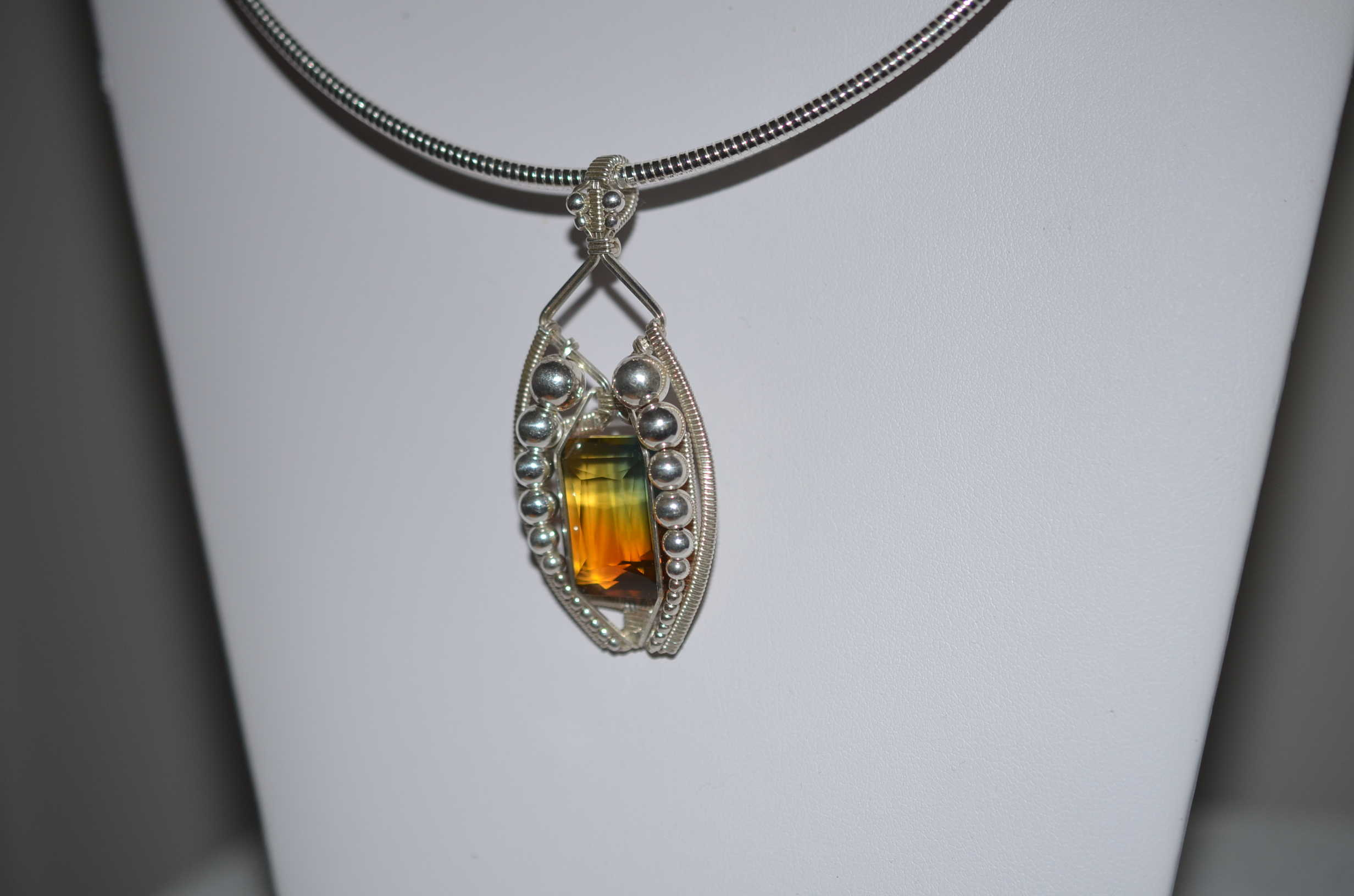 green amethyst and citrine ametrine pendant a journey