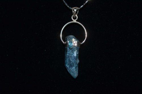 Aqua aura quartz pendant a journey through art aqua aura quartz pendant aloadofball Image collections
