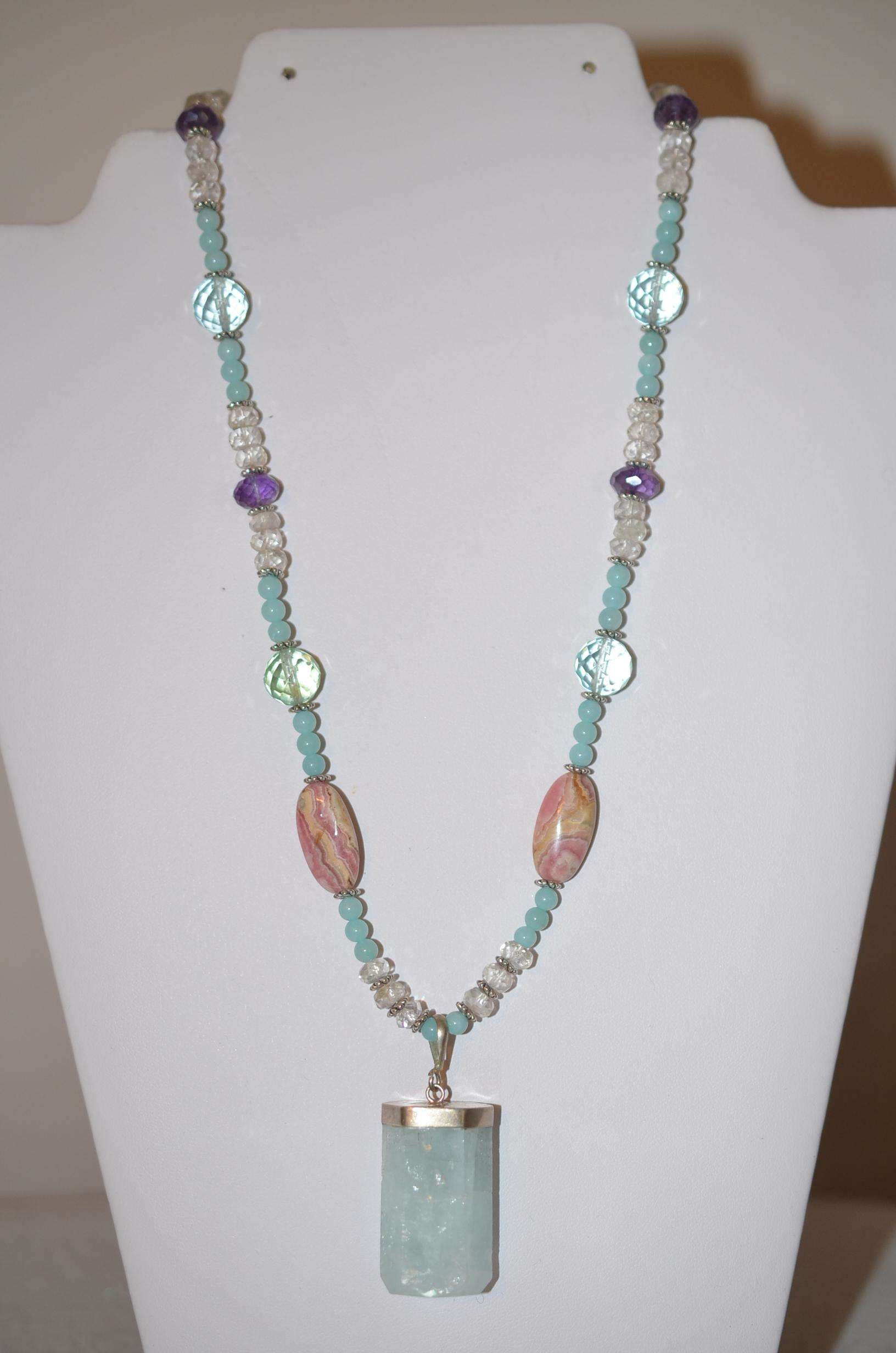 shop rhodochrosite necklaces through aquamarine a with journey dsc art jewelry pendant