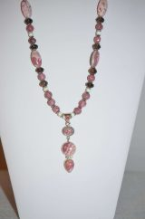 Rhodochrosite Beaded Necklace