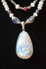 Bloodmoon Moonstone Necklace