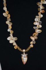 Citrine and Aura Quartz Necklace
