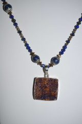 Azurite Druzy Necklace