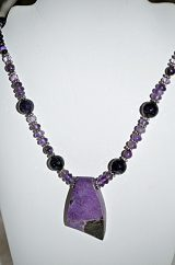 Sugilite and Amethyst Necklace