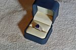 Trillion Cut Tanzanite Ring