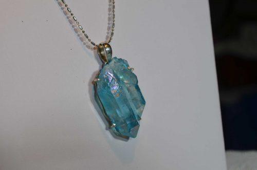 Titanium Quartz Crystal Pendant