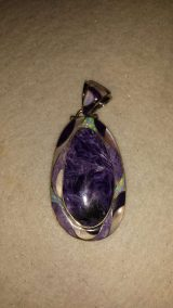 Charoite and Opal Pendant
