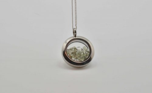 Moldavite and herkimer chip pendant a journey through art moldavite and herkimer chip pendant aloadofball Image collections