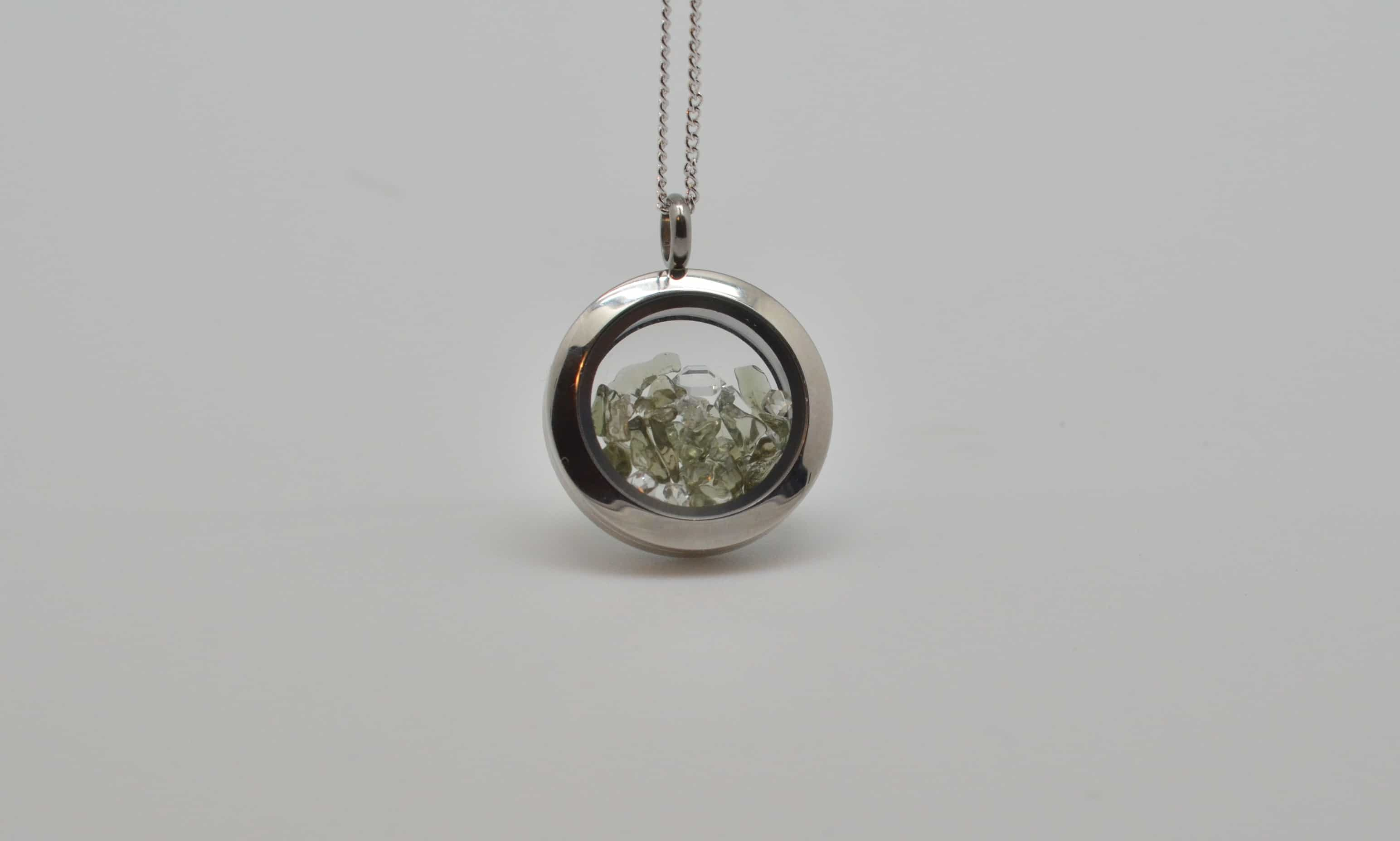Moldavite and herkimer chip pendant a journey through art moldavite and herkimer chip pendant aloadofball Gallery