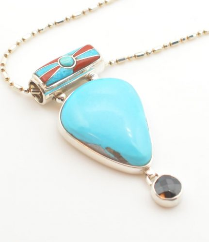 Sleeping Beauty Turquoise and Black Spinel