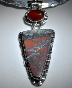 Sonoran Sunrise and Opal Pendant