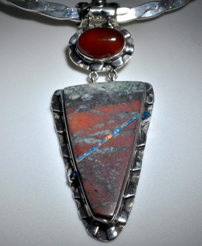 Sonoran Sunrise and Opal Pendant