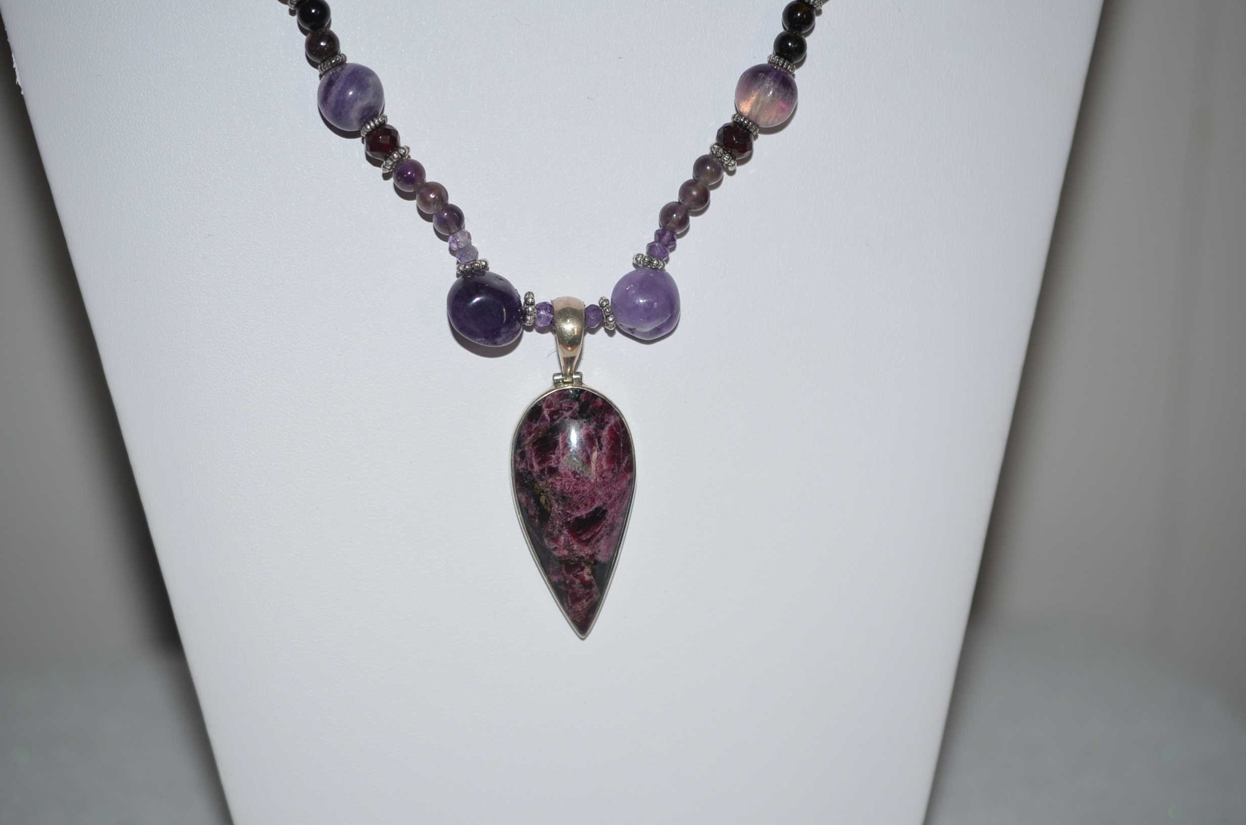 Purple Stone Necklace Charoite Necklace Beaded Necklace Sugilite Necklace Labradorite Necklace